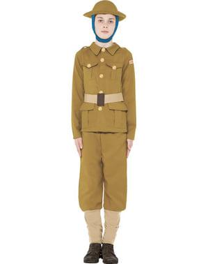 Dětský kostým voják 1. sv. v. Děsivé dějiny
