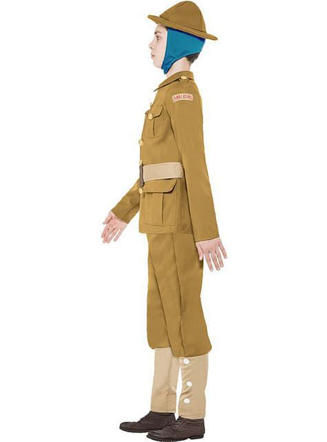 Disfraz Primera Guerra Mundial Horrible Histories para niño - original