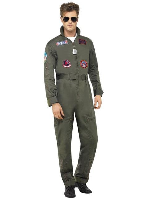Fato de aviador Top Gum deluxe para homem