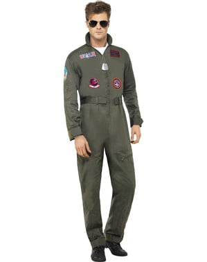 Deluxe Top Gun Aviator costume for a man