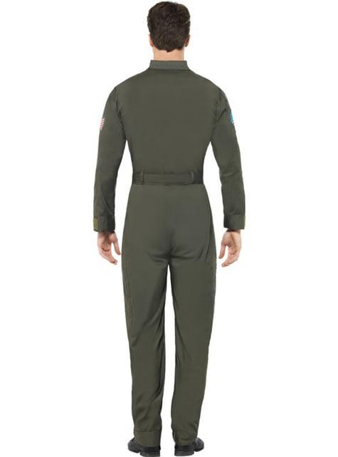 Disfraz de aviador Top Gun deluxe para hombre - hombre