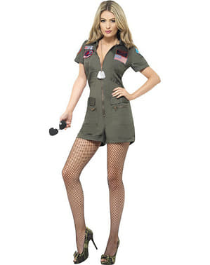 Top Gun Piloot kostuum sexy voor vrouw
