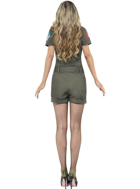 Disfraz de aviadora Top Gun sexy para mujer - mujer