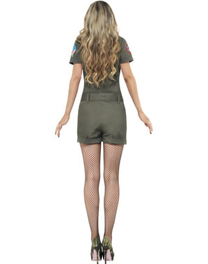 Kampfpilotin Kostüm für Damen sexy Top Gun
