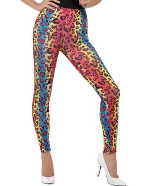 Värikkäät leopardikuvioiset legginssit naisille