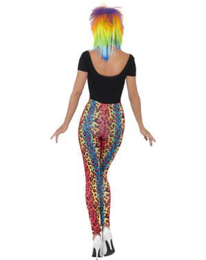 Farvede leopard leggings til kvinde