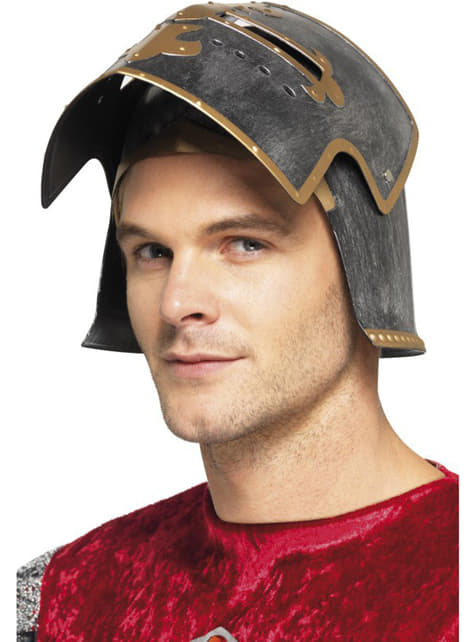 Medieval Crusader helmet for an adult