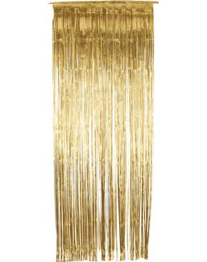 Rideau métallique doré