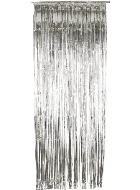 Silver shiny curtain