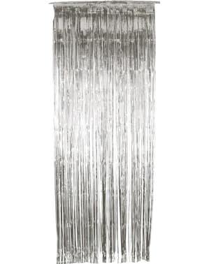 Rideau métallique argenté