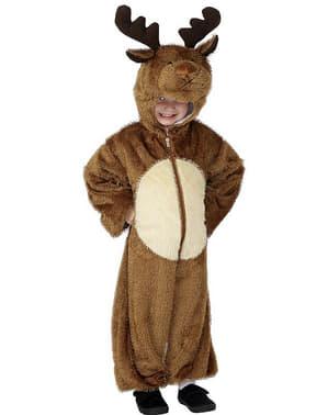 Disfraz de reno con capucha para niño