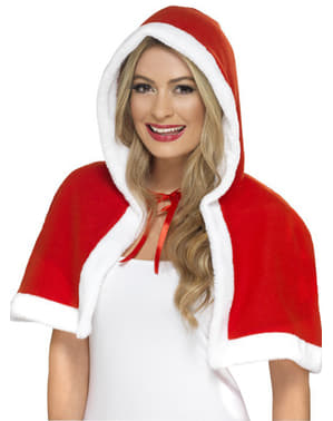 Capa pequena de Mãe Natal para mulher