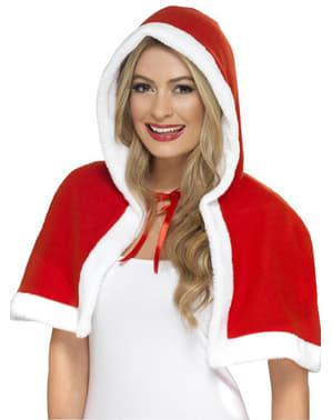 Weihnachtsfrau Umhang für Damen klein