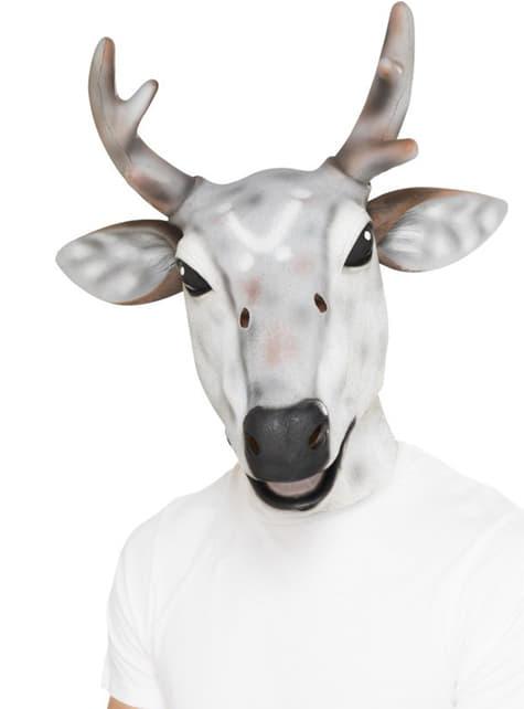 Белая оленьая маска для взрослого