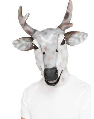 Masker van wit rendier voor volwassenen
