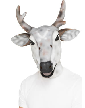 White reindeer mask for an adult