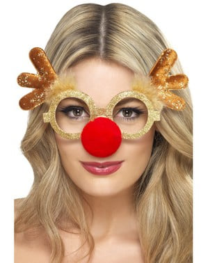 Christmas reindeer glasses