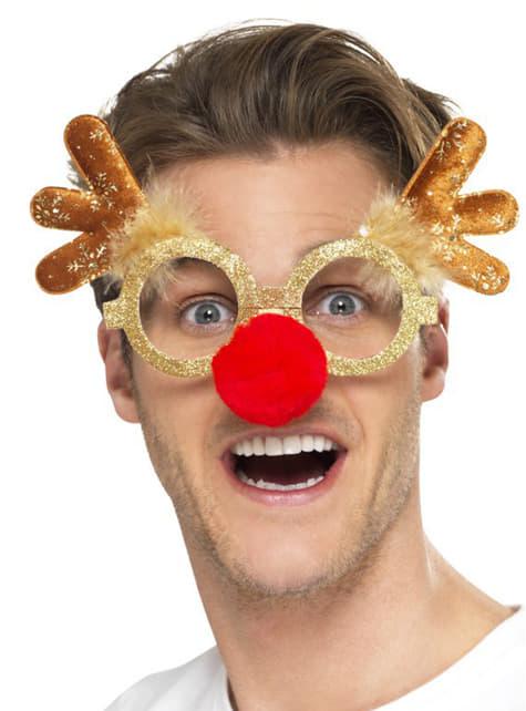 Karácsonyi rénszarvas szemüveg