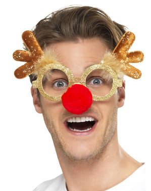 Okulary renifer świąteczny