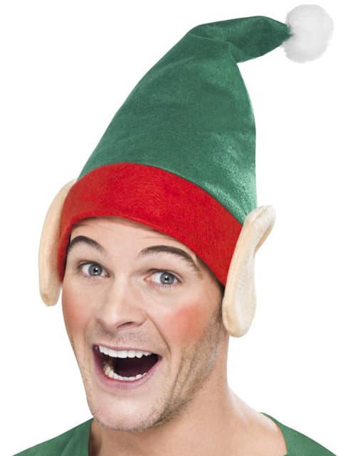 Gorro de elfo navideño para adulto