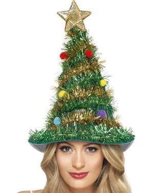 Boné árvore de Natal para adulto