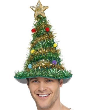 Christmas tree hat for an adult
