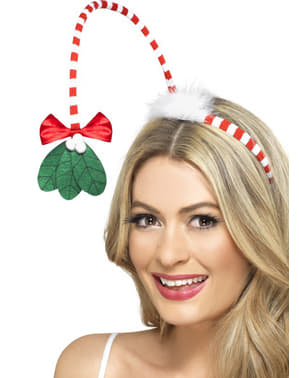 Christmas mistletoe headband