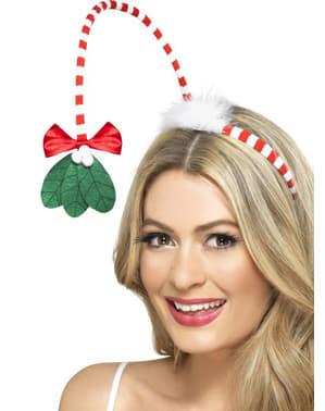 Mistelzweig Haarreif weihnachtlich