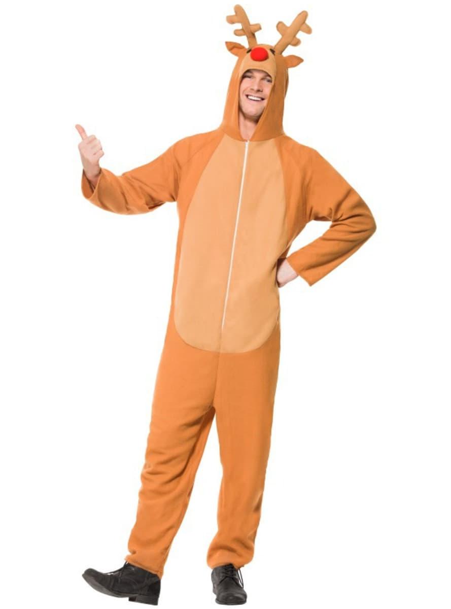 Disfraz de reno con capucha para hombre funidelia - Disfraz de reno nina ...