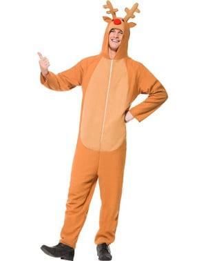Disfraz de reno con capucha para hombre