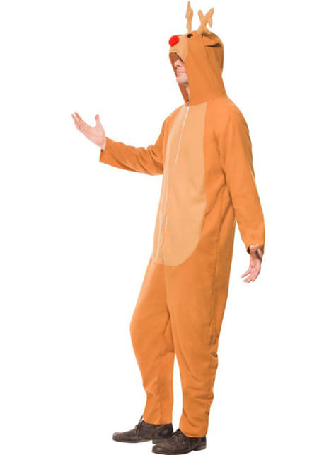 Reindeer costume with hood for a man