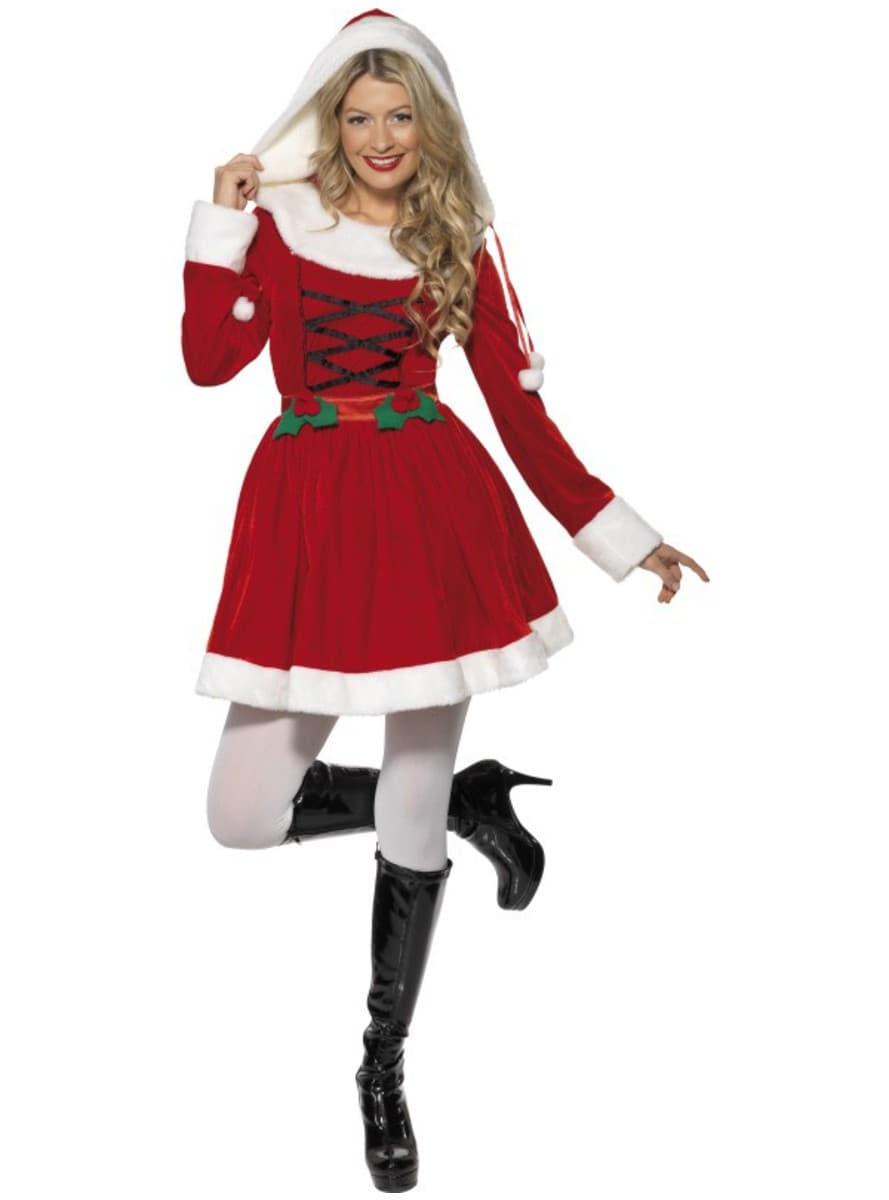 weihnachtsfrau kost m f r damen funidelia. Black Bedroom Furniture Sets. Home Design Ideas