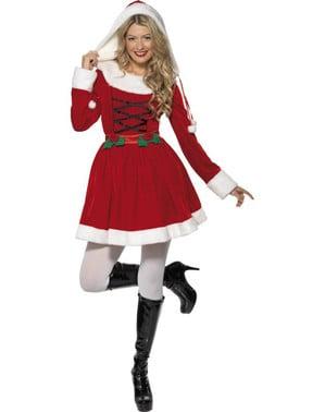 Disfraz de Mamá Noel navideño para mujer