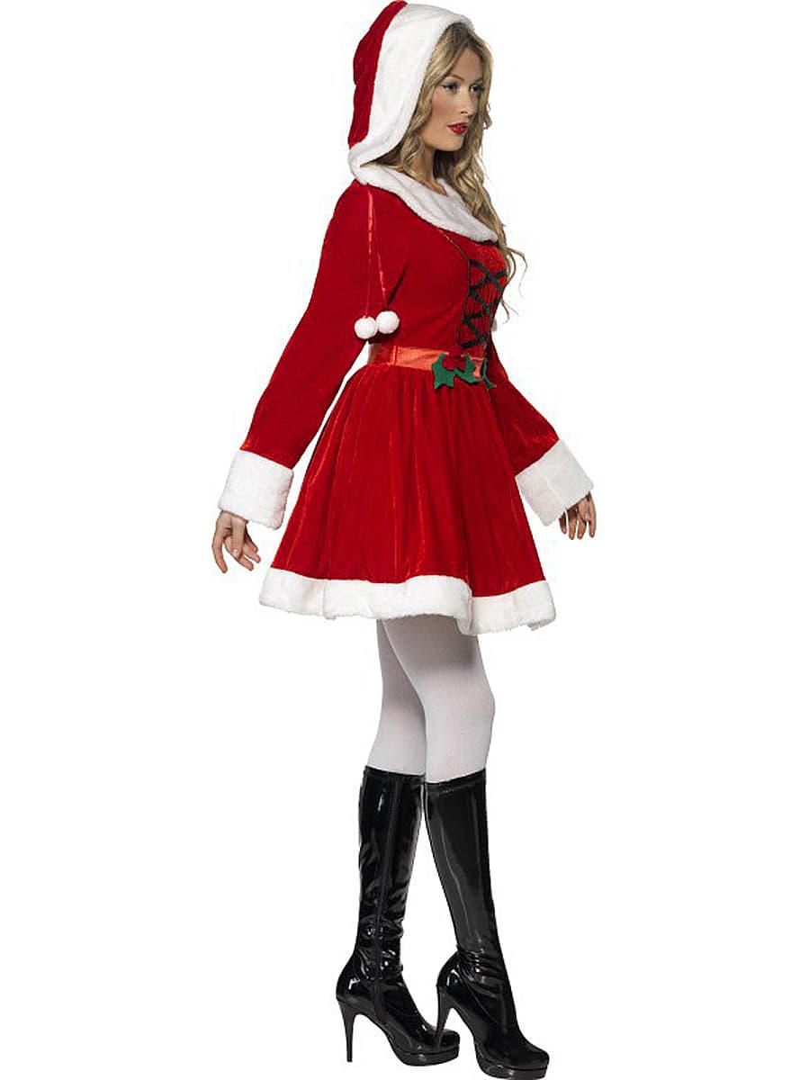 weihnachtsfrau kost m f r damen online kaufen. Black Bedroom Furniture Sets. Home Design Ideas