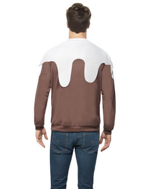 Christmas pudding jumper for a man
