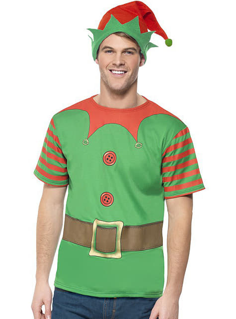 Elf costume kit for a man