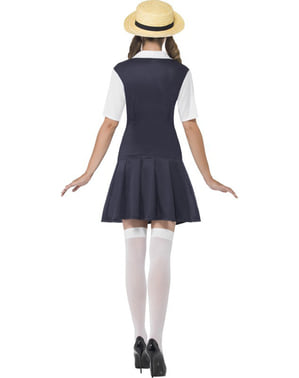 Iskoláslány jelmez egy nő