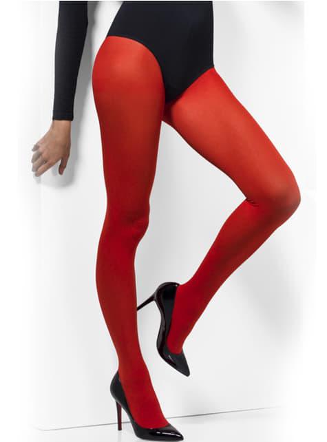 Pantys rojos opacos - para tu disfraz