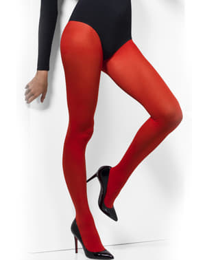 Collants rouges opaques