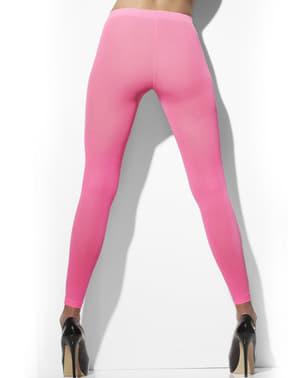 Lyserøde neon leggings