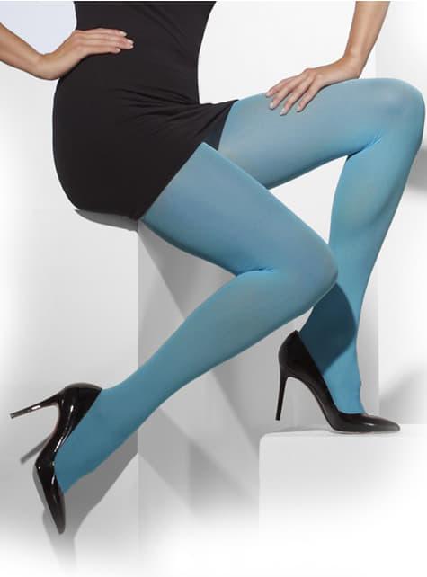 Pantys azules opacas