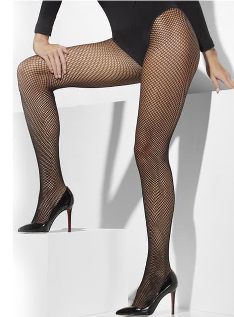 Black mesh tights