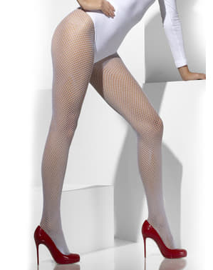 Ciorapi de plasă albă