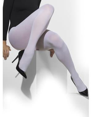 Бели непрозрачни чорапогащи