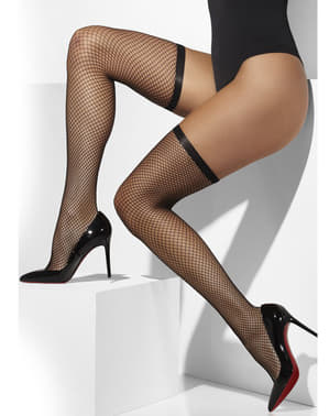Black mesh hold up tights