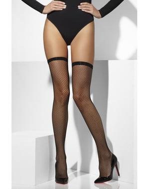 Netzstrümpfe schwarz für kostüm