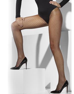 Netzstrumpfhose schwarz für kostüm