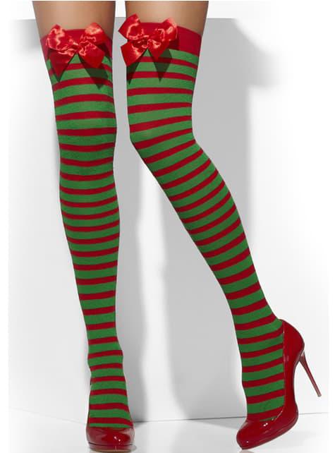 Medias de elfo con lazos - para tu disfraz