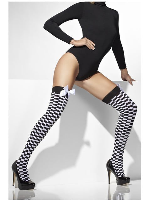 Chess hold up tights with bows