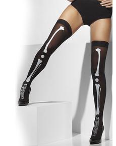5bc2e8444 Meias-calças de esqueleto pretas ...